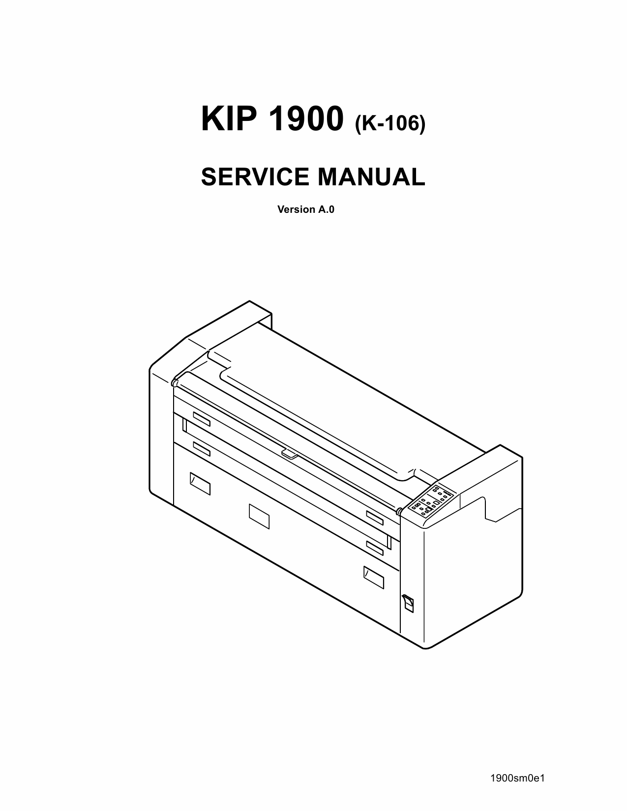KIP 1900 Parts and Service Manual